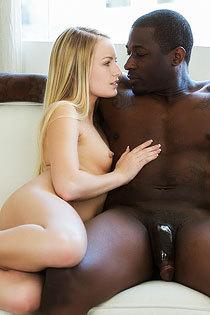Rich Blond Girl First Huge Black Cock