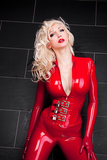 Dreamful Red Wet Catsuit-06