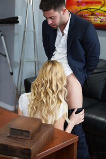 Hot Blonde Babe Alexa Grace Fucked On The Desk