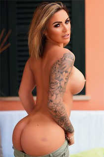 Tattooed Gemma Massey With Great Round Ass And Big Boobs